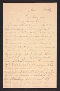 Letter from Mary A. Roberts to Amy Roberts Jones, 1898 February 6