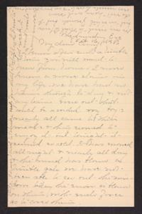 Letter from Mary A. Roberts to Amy Roberts Jones, 1898 February 16