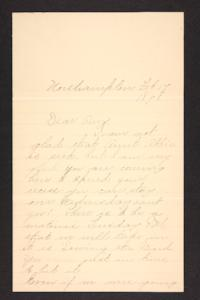 Letter from unidentified correspondent to Amy Roberts Jones, 1898 February 17