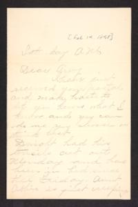 Letter from unidentified correspondent to Amy Roberts Jones, 1898 February 19