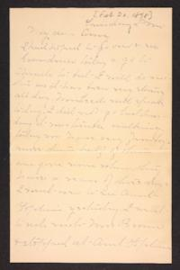 Letter from Mary A. Roberts to Amy Roberts Jones, 1898 February 20