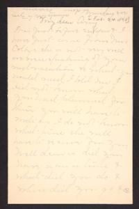 Letter from Mary A. Roberts to Amy Roberts Jones, 1898 February 24