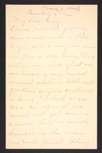 Letter from Mary A. Roberts to Amy Roberts Jones, 1898 March 3