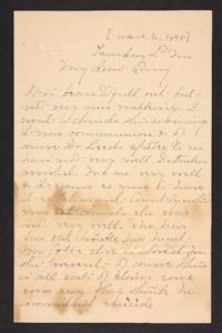 Letter from Mary A. Roberts to Amy Roberts Jones, 1898 March 6