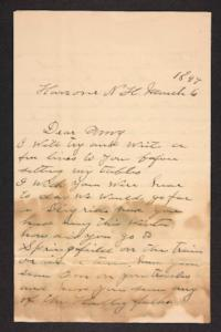 Letter from unidentified correspondent to Amy Roberts Jones, 1898 March 6