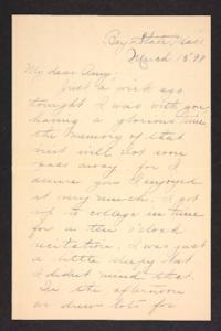 Letter from Esther L. Clapp to Amy Roberts Jones, 1898 March 15