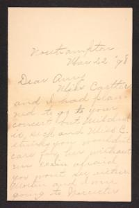 Letter from Nellie to Amy Roberts Jones, 1898 March 22