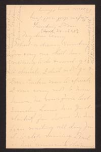 Letter from Mary A. Roberts to Amy Roberts Jones, 1898 April 24