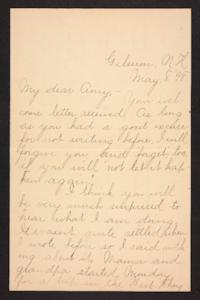 Letter from Fannie Loveland to Amy Roberts Jones, 1898 May 8