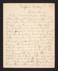 Letter from her aunt to Amy Roberts Jones, 1898 May 10