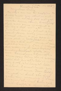 Letter from Mary A. Roberts to Amy Roberts Jones, 1898 May 15