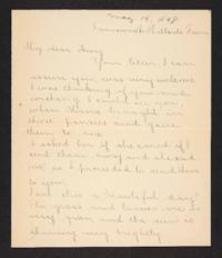 Letter from unidentified correspondent to Amy Roberts Jones, 1898 May 19