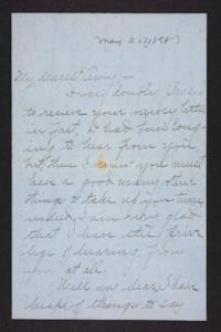 Letter from Blanche Louisa Mae to Amy Roberts Jones, 1898 May 20