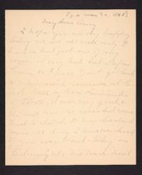 Letter from Mary A. Roberts to Amy Roberts Jones, 1898 May 30