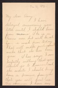 Letter from Fannie Loveland to Amy Roberts Jones, 1898 June 13