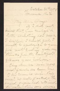 Letter from her aunt to Amy Roberts Jones, 1898 October 31