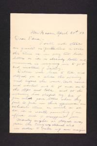 Letter from Charles A. Ferry to Edna L. Ferry, 1903 April 29