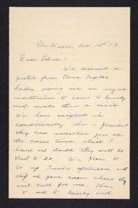Letter from Charles A. Ferry to Edna L. Ferry, 1903 October 18