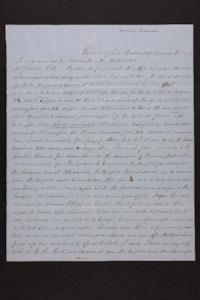 Letter from Mr. Newman Brown to Mrs. Newman Brown