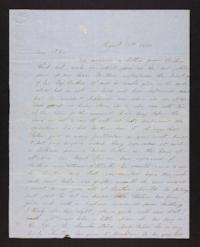 Letter from unidentified correspondent to her sister