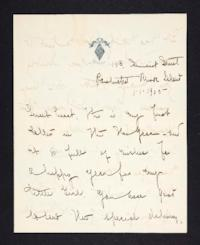 Letter from Mary Woolley to Jeannette Marks, 1905 January 1