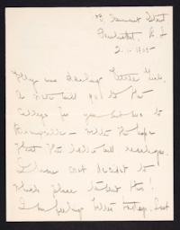 Letter from Mary Woolley to Jeannette Marks, 1905 February 1