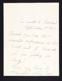 Letter from Mary Woolley to Jeannette Marks, 1905 September 8