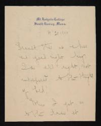 Letter from Mary Woolley to Jeannette Marks, 1906 April 20