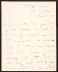 Letter from Mary Woolley to Jeannette Marks, 1906 July 19