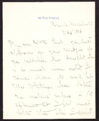 Letter from Mary Woolley to Jeannette Marks, 1906 July 26