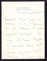 Letter from Mary Woolley to Jeannette Marks, 1906 September 22