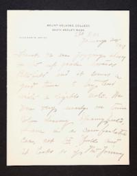 Letter from Mary Woolley to Jeannette Marks, 1907 January 28