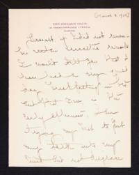 Letter from Mary Woolley to Jeannette Marks, 1908 March 8