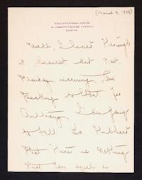 Letter from Mary Woolley to Jeannette Marks, 1908 March 9