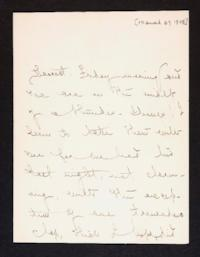Letter from Mary Woolley to Jeannette Marks, 1908 March 27