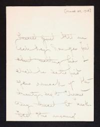 Letter from Mary Woolley to Jeannette Marks, 1908 March 28