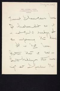 Letter from Mary Woolley to Jeannette Marks, 1908 July 20