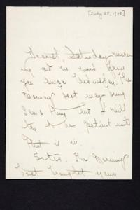 Letter from Mary Woolley to Jeannette Marks, 1908 July 25