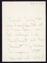 Letter from Mary Woolley to Jeannette Marks, 1908 October 18
