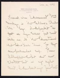 Letter from Mary Woolley to Jeannette Marks, 1908 November 30