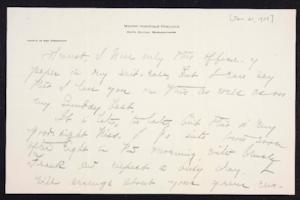Letter from Mary Woolley to Jeannette Marks, 1909 January 21