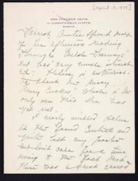 Letter from Mary Woolley to Jeannette Marks, 1909 April 15