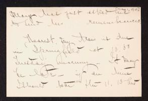Letter from Mary Woolley to Jeannette Marks, 1910 May 1