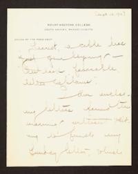 Letter from Mary Woolley to Jeannette Marks, 1910 September 12