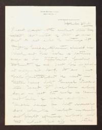 Letter from Mary Woolley to Jeannette Marks, 1910 September 27