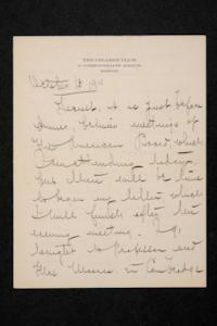 Letter from Mary Woolley to Jeannette Marks, 1910 October 13