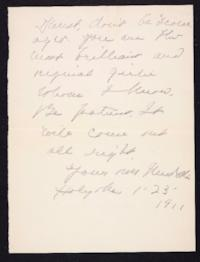 Letter from Mary Woolley to Jeannette Marks, 1911 January 23