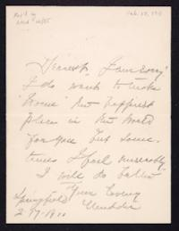Letter from Mary Woolley to Jeannette Marks, 1911 February 17