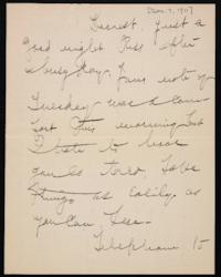 Letter from Mary Woolley to Jeannette Marks, 1911 December 7