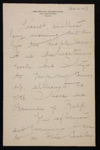 Letter from Mary Woolley to Jeannette Marks, 1911 December 8